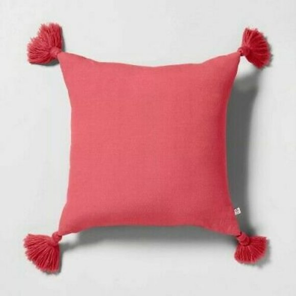 NWT Hearth & Hand Coral Square Throw Pillow